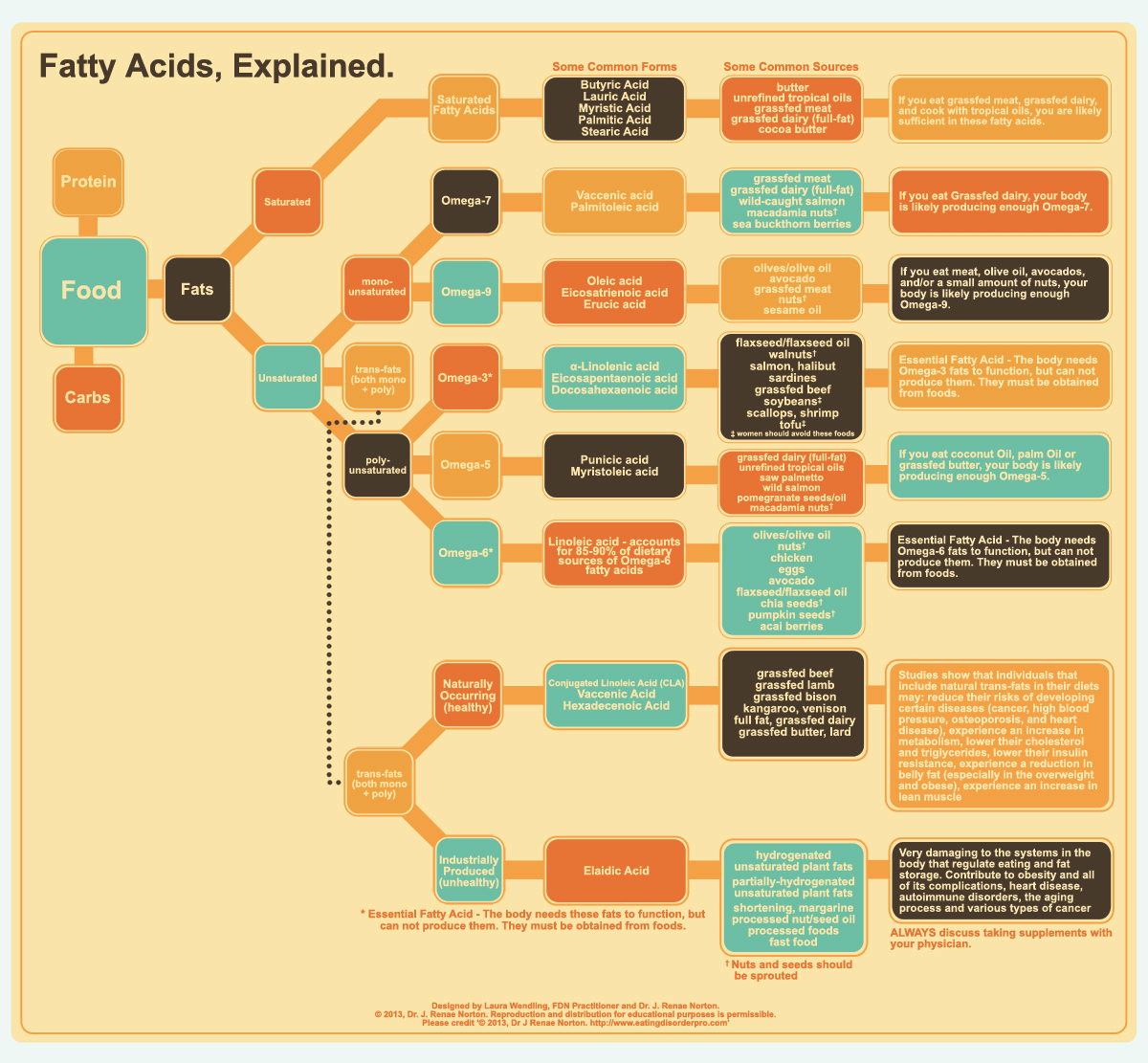 Fatty Acids Infographic